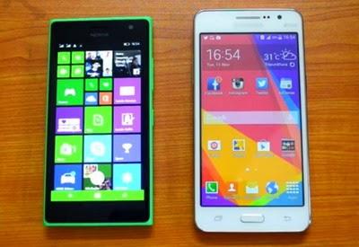 pembanding Samsung Galaxy Prime yaitu Sony Xperia C Pilih Microjadift Lumia 535 atau Samsung Galaxy Grand Prime untuk Selfie?