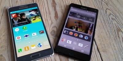 merupbakal dua dari sedikit HP Android kelas  Perbandingan Samsung Galaxy Alpha vs. Sony Xperia Z3 Compact